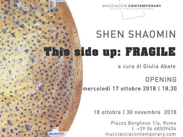 Shen Shaomin. This side up: FRAGILE, Mucciaccia Contemporary, Roma