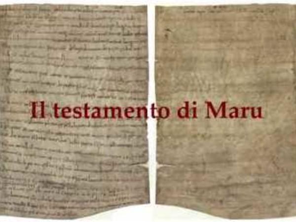 Testamento di Maru, Archivio di Stato di Venezia