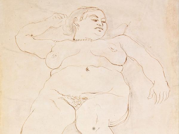 Scipione (Gino Bonichi), Nuda sdraiata, 1931, Inchiostro acquerellato su carta, 31.5 x 43.5 cm, Collezione privata