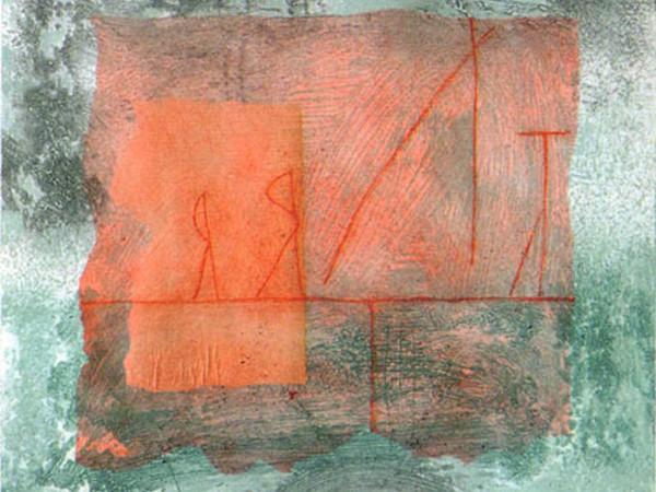 Patricia Segnan, At the beach I, 2010, tecniche sperimentali, strappi, materie fluide e collage