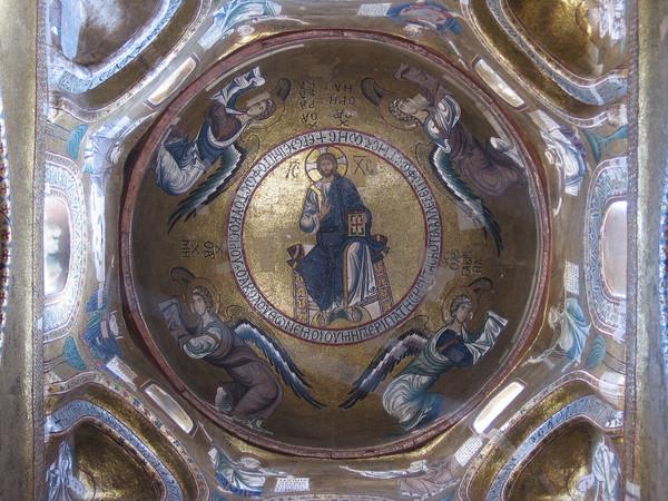 Cupola con mosaico di Cristo Pantocrator