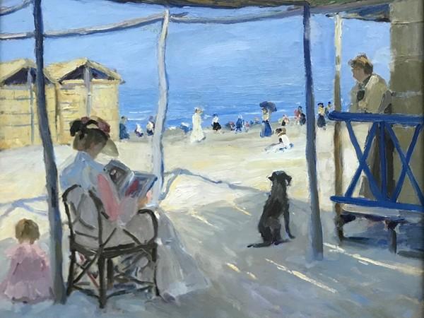 Philipp Klein, Sulla spiaggia di Viareggio, 1906, olio su tela