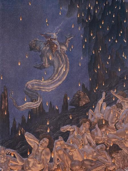 Amos Nattini, Inferno canto XVII, Gerione