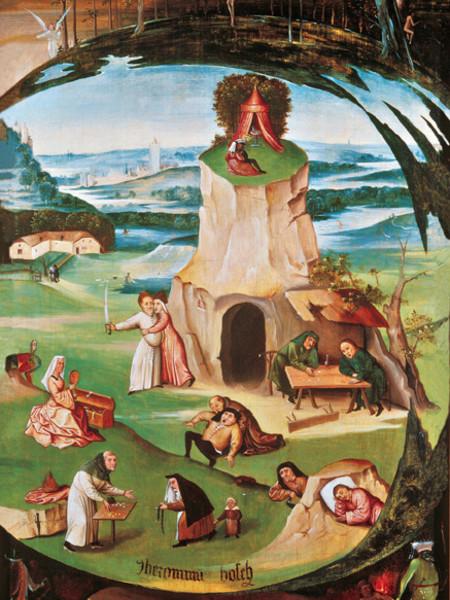Hieronymus Bosch, I sette peccati capitali, 1500 - 1515, Olio su tavola, 86,5 x 56 cm, Ginevra, Geneva Fine Arts Foundation