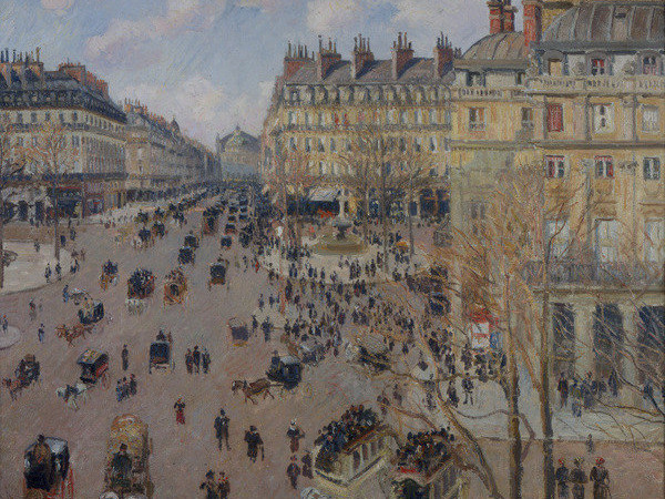 Camille Pissarro, Place du Theatre Francais, 1898, olio su tela, 73 x 92 cm. National Museum of Belgrade