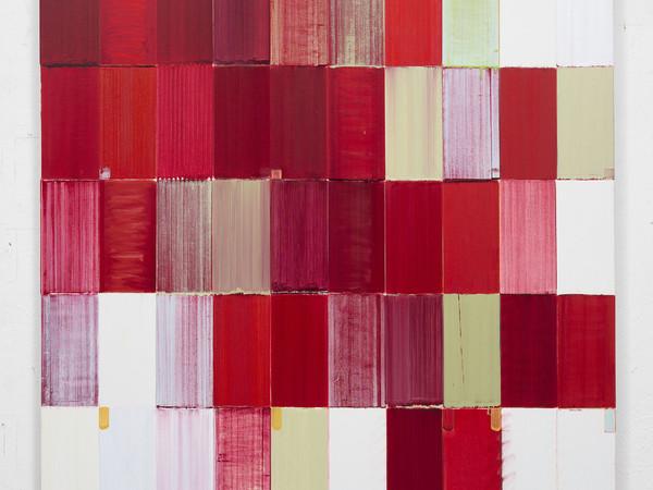 Roberto Caracciolo, A passeggio con Tu-Fu, olio su tela, 130x130 cm