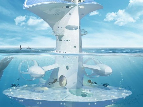 SeaOrbiter création de © Jacques Rougerie - Architecte
