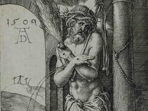 Albrecht Dürer, Frontespizio della piccola Passione, Incisione a bulino, 76 x 122 mm | Courtesy © Musei Civici di Bassano
