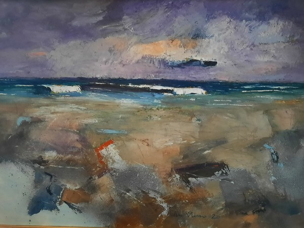 Ivo Stazio, Temporale in mare, 2020, olio su tela, cm. 70x100
