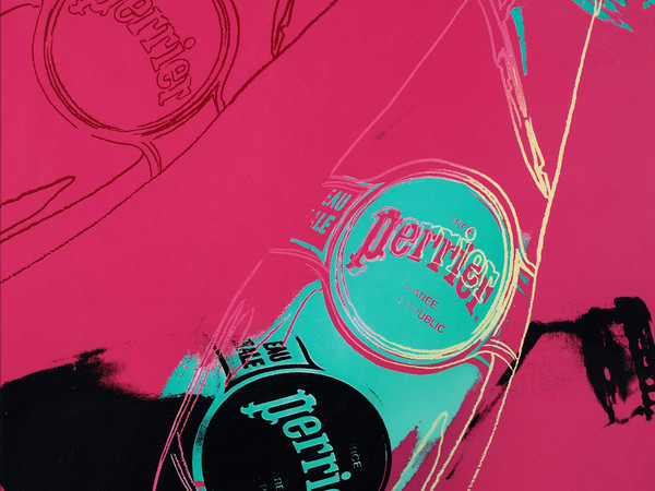 Andy Warhol, Perrier Pink, 1983, offset, cm 45 x 61