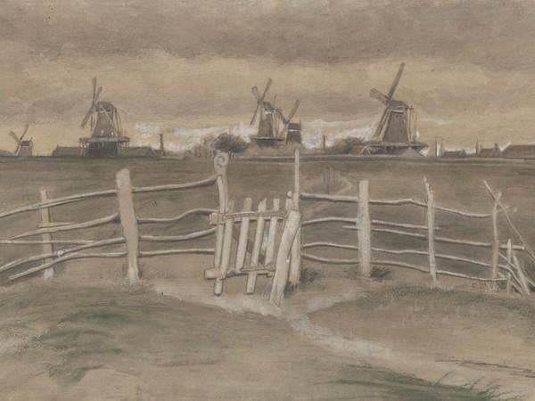 Vincent van Gogh, Mulini a vento a Dordrecht (Weeskinderendijk), Agosto - Settembre 1881, Otterlo Museum