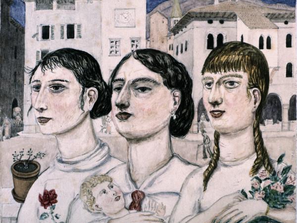 Tullio Garbari, Figure in Piazza Duomo (Tre sorelle), 1924. Mart, Provincia autonoma di Trento - Soprintendenza per i beni culturali