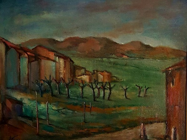 Betto Lotti, Primavera, olio su tela, 1959, cm. 50 x 70