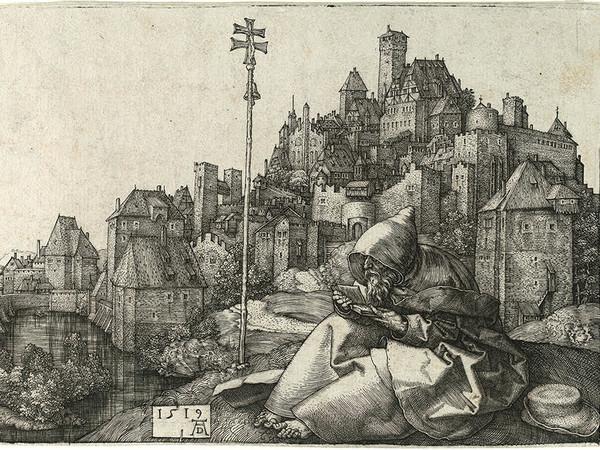 Albrecht Dürer, Sant'Antonio che legge, 1519. Courtesy Musei di Strada Nuova. Foto Luigino Visconti per il Comune di Genova<br />