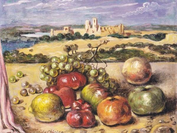 G. De Chirico, Vita silente, 1952 ca., olio su tela, cm. 40x50