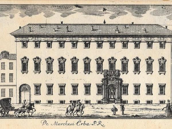 Marc'Antonio Dal Re, Palazzo degli Erba, Acquaforte, mm 99 x 161