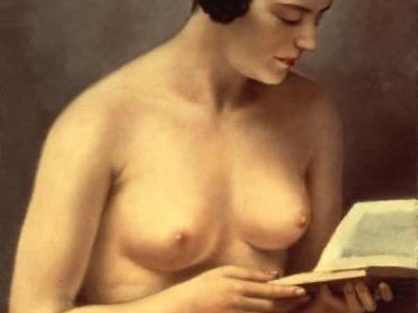 <span>Francesco Trombadori, Fanciulla nuda che legge, 1929, olio su tela. Collezione privata, Foligno</span>