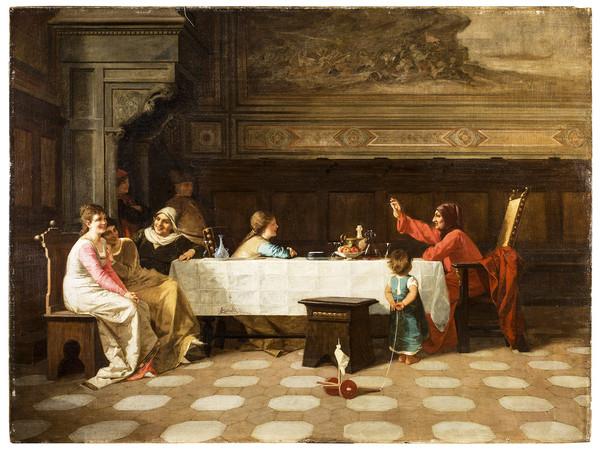 Amos Cassioli, Boccaccio che legge le sue novelle