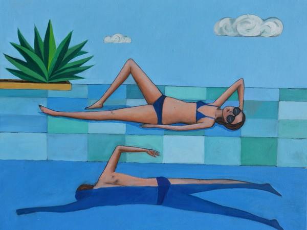 Giacomo Piussi, Donna bordo vasca e un nuotatore