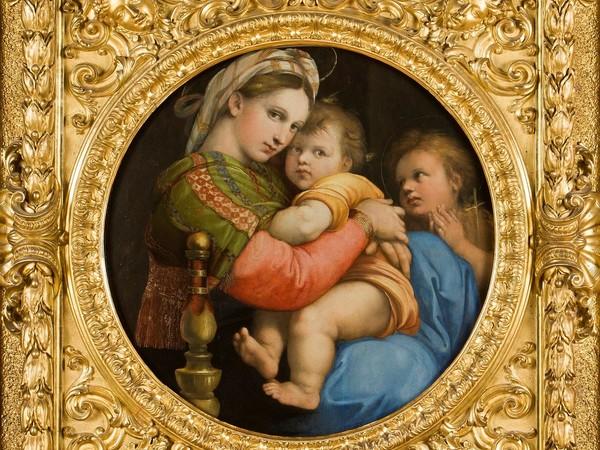 Raffaello, Madonna della Seggiola, 1513-1514 circa. Galleria Palatina di Palazzo Pitti, Firenze