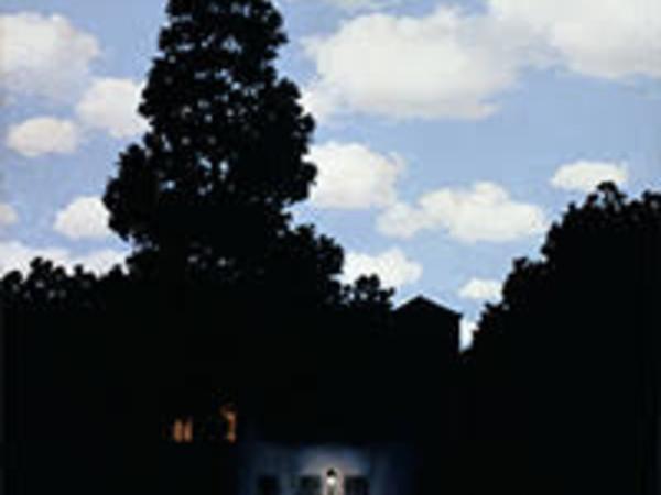 René Magritte, L'impero della luce (L'Empire des lumières), 1953–54, olio su tela, 195,4x131,2 cm. Collezione Peggy Guggenheim, Venezia