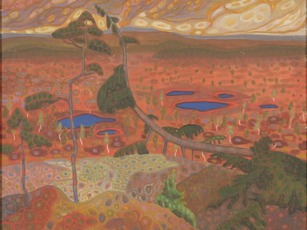 Konrad Mägi, Paesaggio norvegese con pino. 1908‒1910. Olio su tela. Museo nazionale d'arte, Estonia