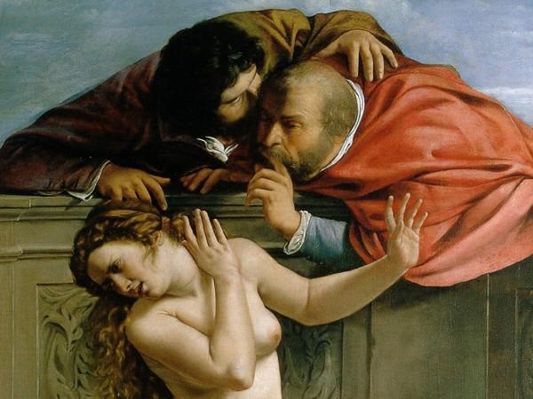 Artemisia Gentileschi (Roma, 1593 - Napoli, circa 1656), Susanna e i vecchioni, 1610, Olio su tela, 170 x 119 cm, Pommersfelden, Collezione Graf von Schönborn