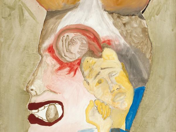 Francesco Clemente, Senza titolo, 1981 affresco | fresco 100 x 60 cm Collezione / Collection E. Righi