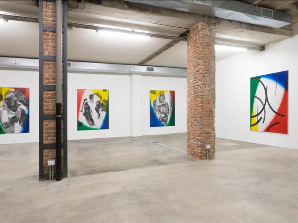 Cheyney Thompson, o This Arcs, Those Colors Measure That Touch, This Time. Exhibition view, Ordet, Milan, 2020 I Ph. Nicola Gnesi