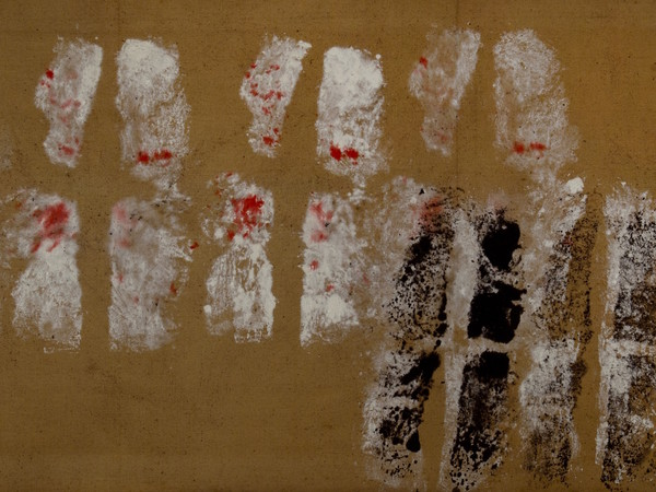 Toti Scialoja, Doppie impronte, 1959
