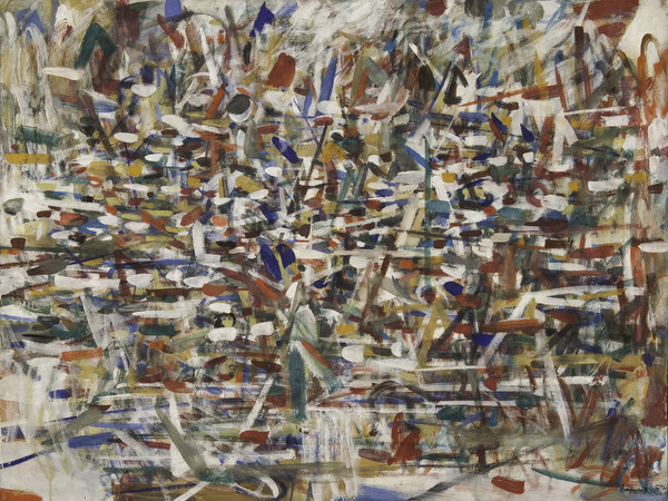 Tancredi Parmeggiani, <em>Composizione</em>, 1957, Tempera su tela, 169.4 x 130.4 cm, Collezione Peggy Guggenheim, Venezia