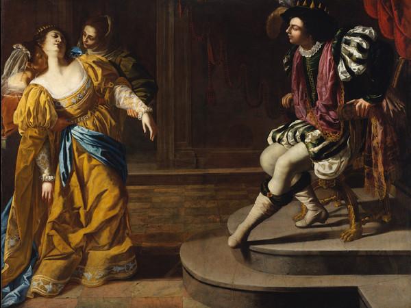 Artemisia Gentileschi, <em>Ester e Assuero</em>, 1626-29 ca., Olio su tela, 273.7 x&nbsp;208,3 cm, Lent by The Metropolitan Museum of Art, Gift of Elinor Torrance Ingersoll, 1969 | &copy; The Metropolitan Museum of Art