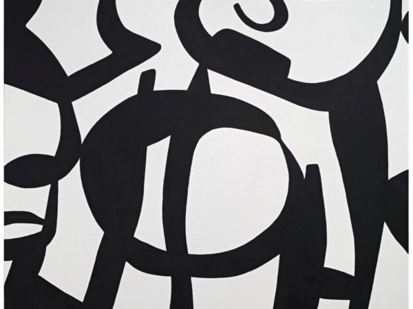 Carla Accardi, Nero su Bianco, 2008, Vinile su tela, h. 130 × 150 cm