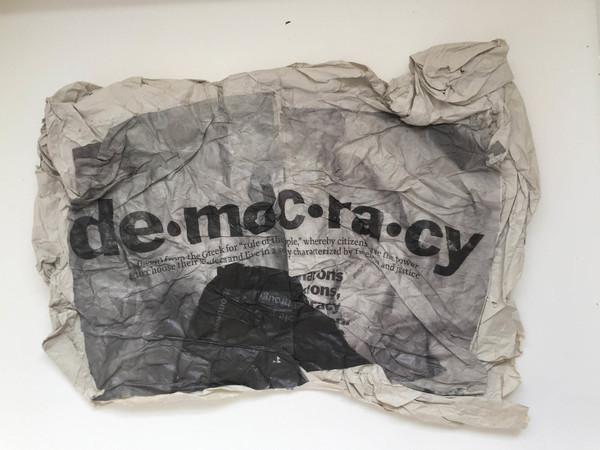Gianluigi Colin, Democracy, Tecnica mista, 2008, 47x62 cm.