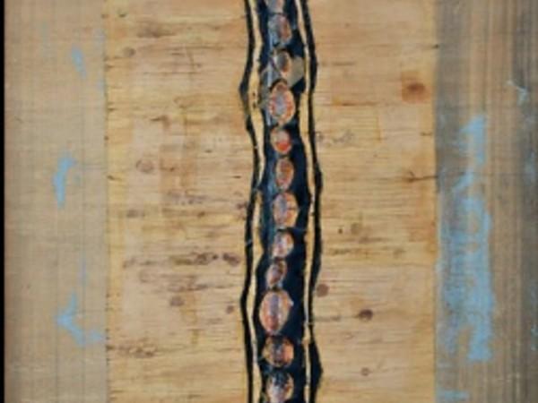 Carlo Pace, Spina dorsale, 1975, tecnica mista su carta, cm. 114x83