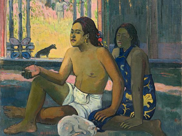 Paul Gauguin, Eiaha ohipa (Non fanno nulla. Tahitiani in una stanza), 1896, olio su tela, 65х75 cm.