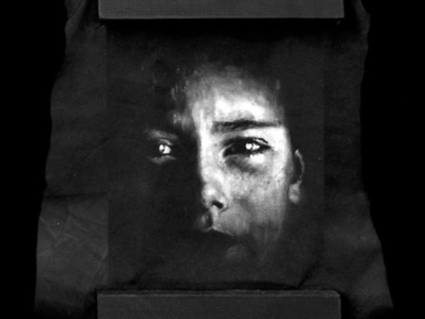 Gomez, Nox Omnibus Lucet, Untitled 5, Oil on black fabric ,15x23 cm