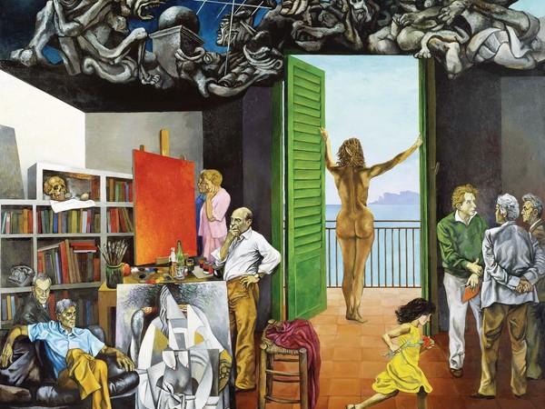 Renato Guttuso, Spes contra Spem, 1982, lio su tela cm. 300x350. Fondazione Francesco Pellin, Varese
