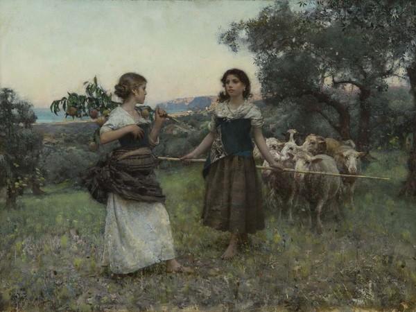 Francesco Paolo Michetti, L'incontro, 1887. Collezione privata, Napoli