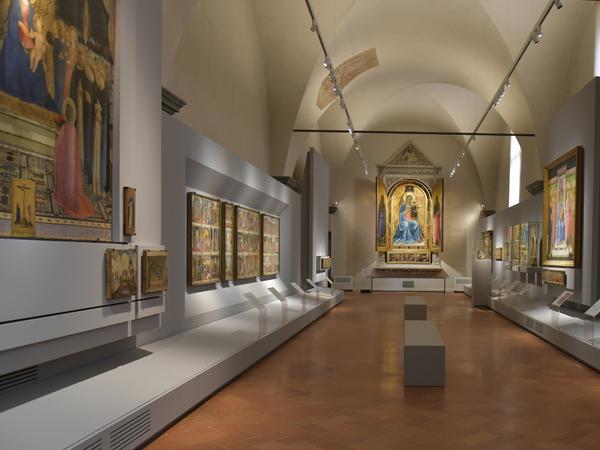 La Sala del Beato Angelico nel nuovo allestimento, Museo di San Marco, Firenze I Ph. Antonio Quattrone Fine Arts Photographer
