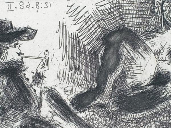 """Pablo Picasso, incisione dalla serie """"La Célestine"""", 1968"""