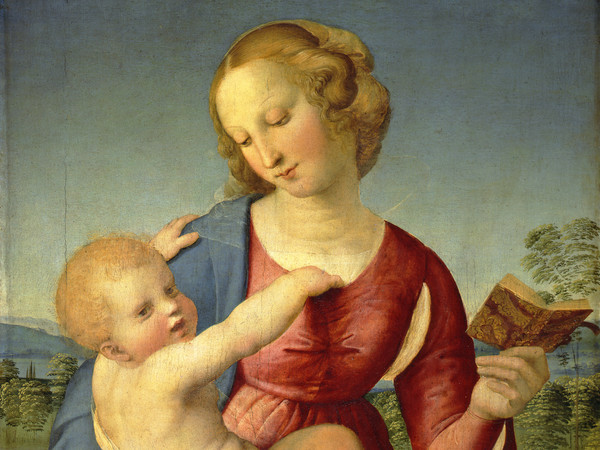 Raffaello Sanzio, Madonna Colonna, 1508, Olio su tavola, 79 x 58.2 cm | © Staatliche Museen zu Berlin, Gemäldegalerie / Jörg P. Anders | Raffael in Berlin. The Madonnas of the Gemäldegalerie