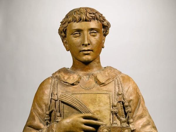 Donatello,<em> San Lorenzo</em>, verso il 1440, terracotta già dipinta. Parigi, collezione Peter e Kathleen Silverman