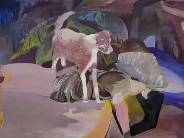 Adelisa Selimbašić, Nascondino, 2019, olio su tela, 90 x 130 cm.
