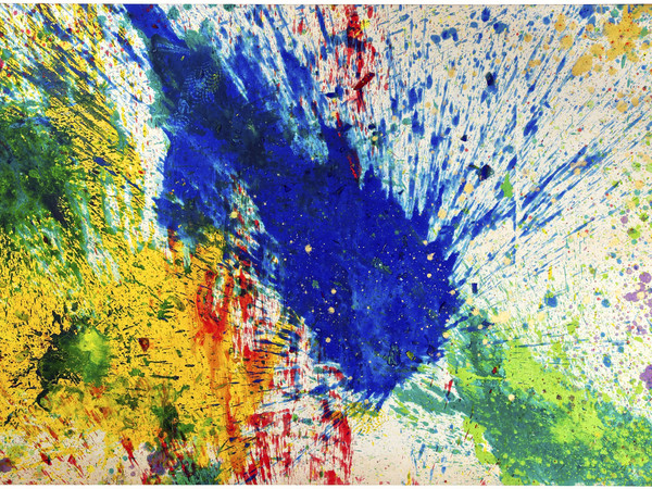 Shozo Shimamoto, Capri Certosa 1, 2008, acrilico su tela, 158x260 cm