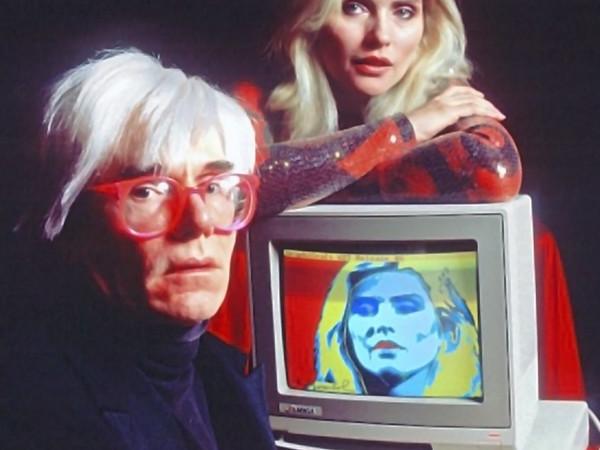 Andy Warhol e Debby Harry al Lincoln Center per la presentazione di Amiga 1000, 1985