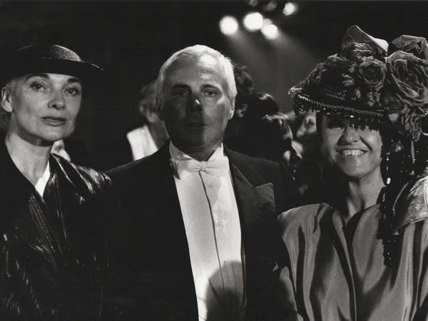 Maria Mulas, Edgarda Ferri, Giorgio Armani, Anna Riva, 1987