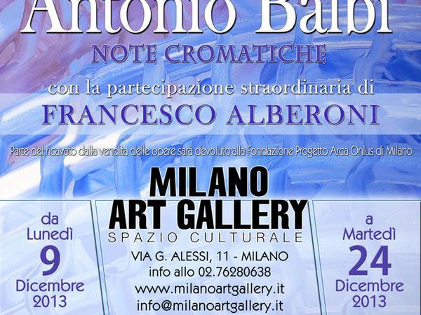 Antonio Balbi. Note cromatiche, Milano Art Gallery
