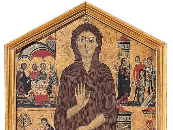 Maestro della Maddalena (Firenze, attivo nella seconda metà del XIII secolo), Santa Maria Maddalena e otto episodi della sua vita, 1285 circa, tavola. Firenze, Galleria dell'Accademia