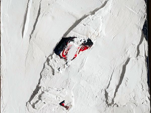 Mario Arlati, Coca Cola, 2002, tecnica mista su tela, cm. 40x40